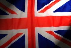 Fondo di Jack United Kingdom Flag Fabric del sindacato del raso Fotografia Stock