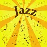 Fondo di jazz di vettore Fotografie Stock Libere da Diritti