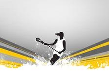 Fondo di lacrosse Fotografia Stock Libera da Diritti
