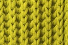 Fondo di lana di struttura, tessuto tricottato della lana, fluf peloso di verde Fotografia Stock Libera da Diritti