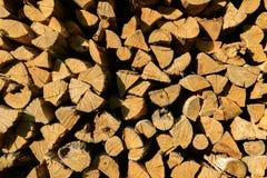 Fondo di legna da ardere Fotografie Stock Libere da Diritti