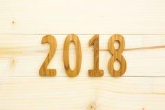 fondo di legno 2018 Fotografia Stock