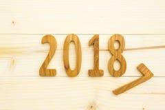fondo di legno 2018 Immagini Stock Libere da Diritti