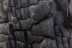 Fondo di legno bruciante Fotografie Stock