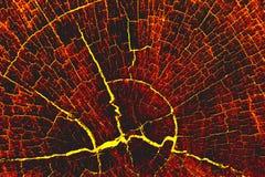 Fondo di legno caldo della lava del fuoco Fotografia Stock Libera da Diritti