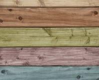 Fondo di legno colorato Fotografie Stock