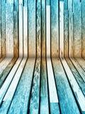 Fondo di legno colorato blu Fotografia Stock