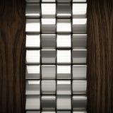 Fondo di legno con l'elemento del metallo Fotografia Stock