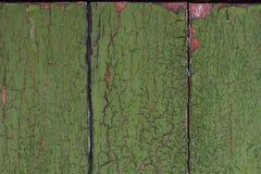 Fondo di legno d'annata con la pittura della sbucciatura Fotografie Stock