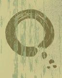 Fondo di legno d'annata di struttura del cerchio di zen Immagini Stock