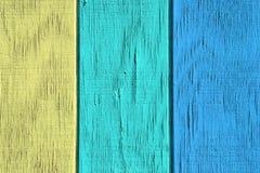 Fondo di legno d'annata e struttura con la pittura della sbucciatura Fotografie Stock Libere da Diritti