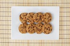 Fondo di legno dei biscotti del biscotto Fotografie Stock Libere da Diritti