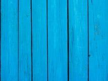 Fondo di legno del blu del recinto Fotografie Stock