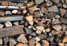 Fondo di legno del mucchio Fotografia Stock