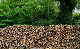 Fondo di legno del mucchio Immagini Stock Libere da Diritti