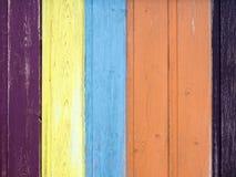Fondo di legno del recinto con il numero Immagine Stock
