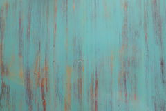 Fondo di legno del turchese - plance di legno dipinte per la parete o il pavimento della tavola dello scrittorio Immagini Stock Libere da Diritti