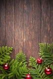 Fondo di legno dell'albero di Natale fotografia stock