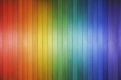Fondo di legno dell'arcobaleno Fotografie Stock Libere da Diritti