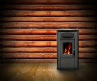 Fondo di legno dell'interno della cabina Immagini Stock Libere da Diritti