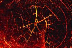 Fondo di legno dell'ustione della lava Fotografie Stock Libere da Diritti