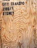 Fondo di legno della cassa del compensato Fotografia Stock Libera da Diritti