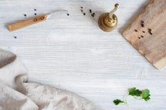 Fondo di legno della cucina Fotografie Stock Libere da Diritti