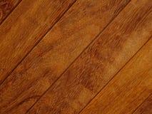 Fondo di legno della diagonale di struttura di Brown Immagini Stock Libere da Diritti