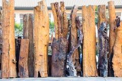 Fondo di legno della parete del recinto fotografia stock libera da diritti