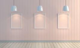 Fondo di legno della parete di colore pastello Fotografia Stock Libera da Diritti