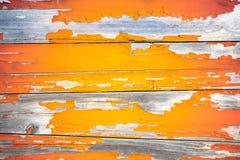 Fondo di legno della pittura della sbucciatura Fotografie Stock Libere da Diritti