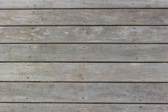 Fondo di legno della plancia con i fori dei chiodi Fotografia Stock Libera da Diritti
