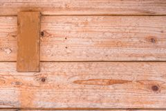 Fondo di legno della plancia con lo spazio dell'etichetta di nome Immagine Stock