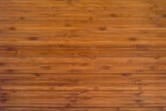 Fondo di legno di bambù Fotografie Stock