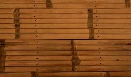 Fondo di legno di bambù di struttura fotografie stock