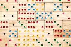 Fondo di legno di domino Fotografia Stock Libera da Diritti