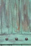 Fondo di legno di lerciume, turchese Fotografie Stock Libere da Diritti