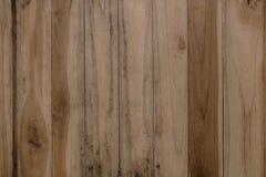Fondo di legno di struttura della parete della plancia di Brown Immagine Stock Libera da Diritti