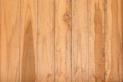 Fondo di legno di struttura della parete della plancia di Brown Immagini Stock Libere da Diritti