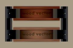 Fondo di legno di Tiltle di vettore Fotografia Stock