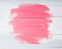 Fondo di legno dipinto bianco e di rosa fotografie stock libere da diritti