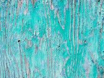 Fondo di legno dipinto vecchio blu Fotografie Stock Libere da Diritti