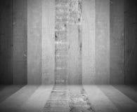 Fondo di legno grigio di struttura della stanza - visualizzi i vostri prodotti Immagine Stock
