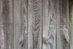 Fondo di legno grigio stagionato del recinto Fotografia Stock Libera da Diritti