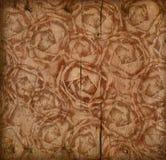 Fondo di legno Grungy delle rose Immagine Stock Libera da Diritti