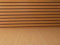 Fondo di legno interno nell'illustrazione 3D Fotografie Stock Libere da Diritti