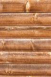 Fondo di legno macchiato orizzontalmente piastrellato di struttura della parete Fotografia Stock