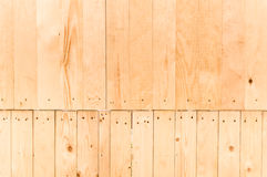Fondo di legno marrone chiaro del pannello Fotografie Stock