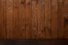 Fondo di legno marrone scuro dell'estratto immagine stock libera da diritti