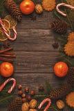 Fondo di legno di Natale Fotografia Stock Libera da Diritti